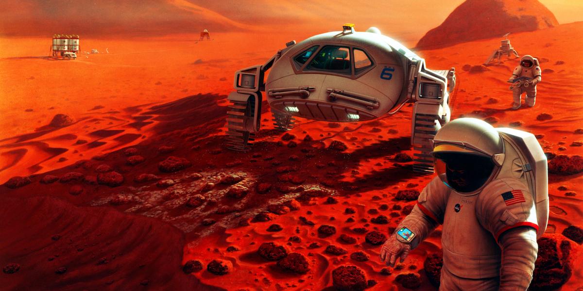 Astronotlar Mars'ta dışkı yiyecekler
