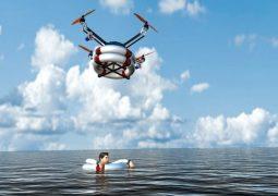 Boğulan çocukları drone ile kurtardılar