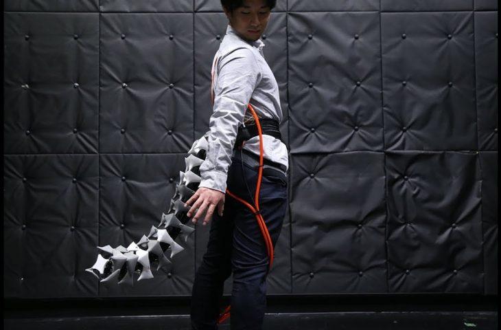 giyilebilir robotik kuyruk