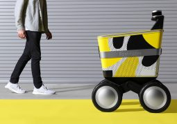 Sipariş teslim robotu yollara çıkıyor